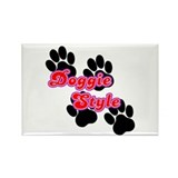Doggie Style Rectangle Magnet