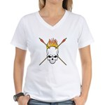 Skull Archery Women's V-Neck T-Shirt