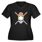Skull Archery Women's Plus Size V-Neck Dark T-Shir