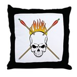 Skull Archery Throw Pillow