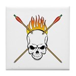 Skull Archery Tile Coaster