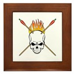 Skull Archery Framed Tile