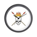 Skull Archery Wall Clock