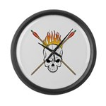 Skull Archery Large Wall Clock