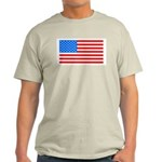 4th of July Patriotic American Flag Light T-Shirt