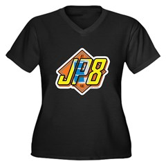 JP8 Women's Plus Size V-Neck Dark T-Shirt