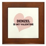 Denzel Is My Valentine Framed Tile