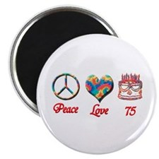 Unique Peace love happiness Magnet