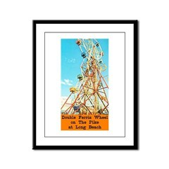 Double Ferris Wheel At The Pi Framed Panel Print