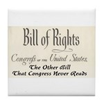 Bill of Rights Tile Coaster