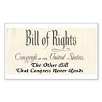Bill of Rights Sticker (Rectangle)