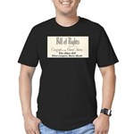Bill of Rights Men's Fitted T-Shirt (dark)