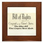 Bill of Rights Framed Tile