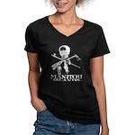 Manitou Islands Women's V-Neck Dark T-Shirt