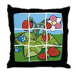 Strawberry Puzzle Throw Pillow
