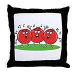 Singing Tomatoes Throw Pillow