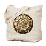Gold Pentacle w/silver Tote Bag