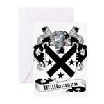 Williamson Family Crest Greeting Cards (Package of
