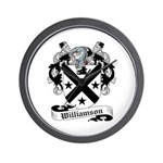 Williamson Family Crest Wall Clock