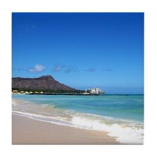Waikiki Beach~XOXO HAWAII Tile Coaster