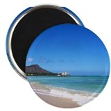 "Waikiki Beach~XOXO HAWAII 2.25"" Magnet (10 pack)"