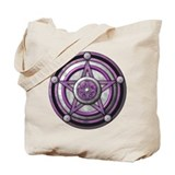 Purple Pentacle w/silver Tote Bag