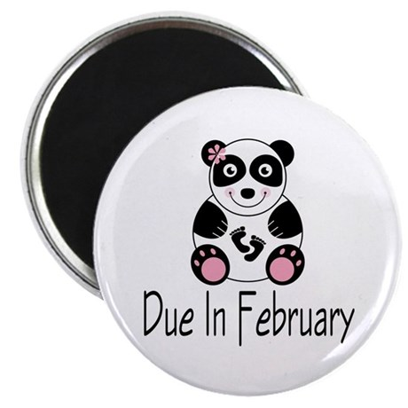 Panda February Due Date Magnet