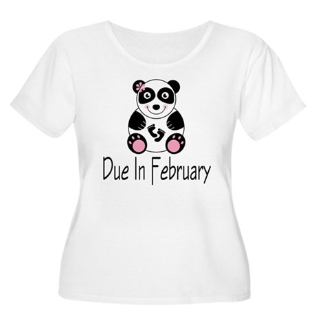 Panda February Due Date Women's Plus Size Scoop Ne