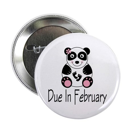 "Panda February Due Date 2.25"" Button"