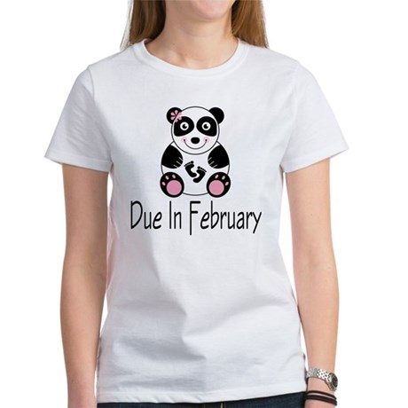 Panda February Due Date Women's T-Shirt