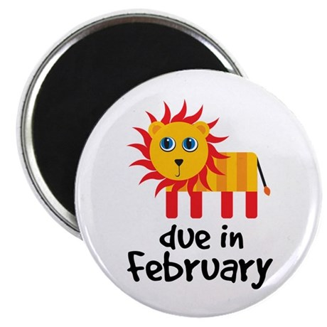 "Lion Due In February Baby 2.25"" Magnet (10 pack)"