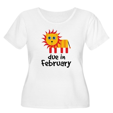 Lion Due In February Baby Women's Plus Size Scoop