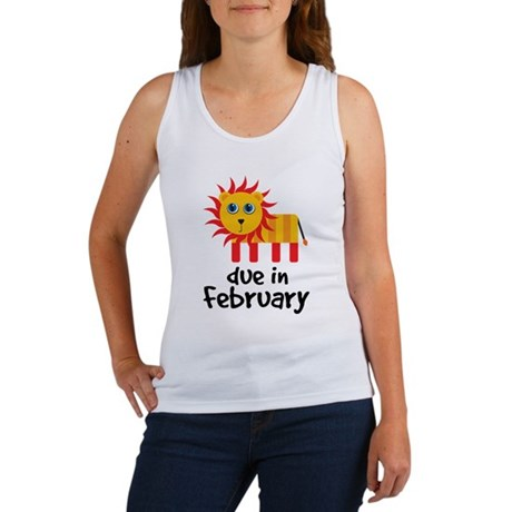 Lion Due In February Baby Women's Tank Top