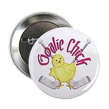 Goalie Chick Button