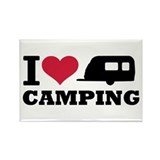 I love camping Rectangle Magnet