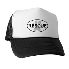 Rescue Paw White Oval Trucker Hat