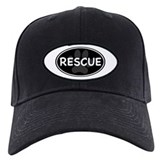 Rescue Paw Black Oval Baseball Cap