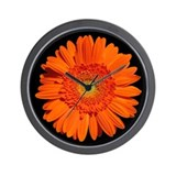Orange Gerbera Daisy Wall Clock