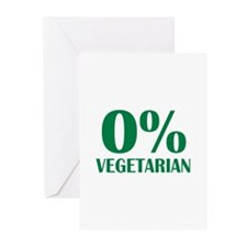 Meat - BBQ - 0% Vegetarian Greeting Cards (Pk of 1