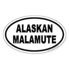 Alaskan Malamute Euro Oval Decal