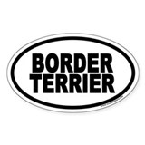Border Terrier Euro Oval Bumper Stickers