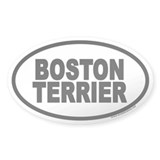 Boston Terrier Euro Oval Bumper Stickers