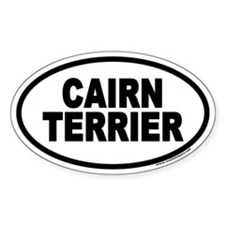 Cairn Terrier Euro Oval Decal