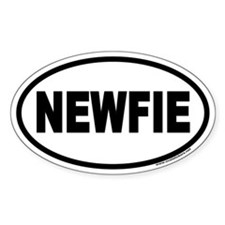 NEWFIE Newfoundland Euro Oval Bumper Stickers