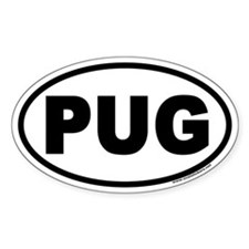 PUG Euro Oval Decal