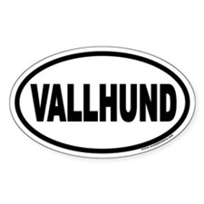 Vallhund Euro Oval Decal