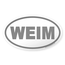 WEIM Weimaraner Euro Oval Decal