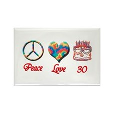 Unique Peace love Rectangle Magnet