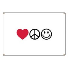 Love Peace Happiness Banner