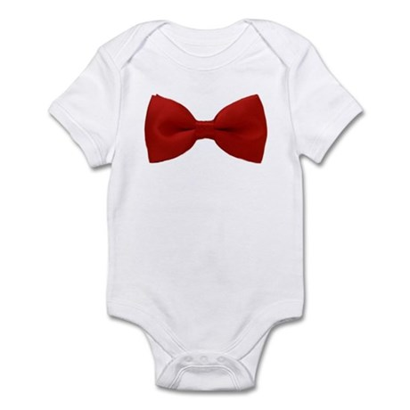 Red Bow Infant Bodysuit